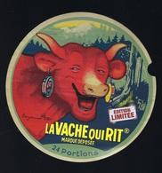 Etiquette Fromage La Vache Qui Rit 24 Portions Marque Déposée Signé Benjamin Rabier Edition Limitée - Fromage