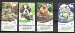 ROMANIA, 2019, MNH,FAUNA, ANIMALS' EMOTIONS, DOGS, MONKEYS, POLAR BEARS, ELEPHANTS, 4v - Elefanten