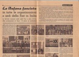 C2202 - Pagina Da Giornale LA BEFANA FASCISTA Nelle Sedi FIAT/DUCE - Zeitungen & Zeitschriften