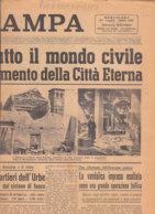 C2203 - Giornale LA STAMPA 21 Luglio 1943 - GUERRA/BOMBARDAMENTI ROMA - Zeitungen & Zeitschriften