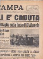 C2204 - Giornale LA STAMPA 2 Luglio 1942 - GUERRA/SEBASTOPOLI CADUTA/BATTAGLIA EL ALAMEIN - Zeitungen & Zeitschriften