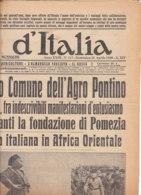 C2205 - Giornale LA STAMPA 26 Aprile 1936 - GUERRA/MUSSOLINI FONDA APRILIA - Zeitungen & Zeitschriften