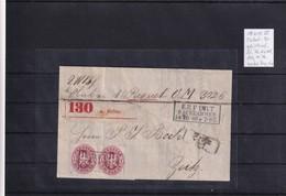 AD., Preussen Paket-Begleitbrief, Mit MeF. Mi.-Nr. 16 B, Sign. Brettl. - Prussia