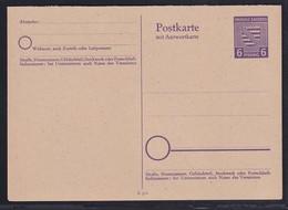 SBZ., Provinz Sachsen, Ganzsache Mi.-Nr. P 12 Ungebraucht. - Soviet Zone