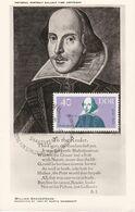 Carte Maximum Littérature Allemagne DDR  Shakespeare - DDR