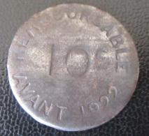 France - Jeton 10c Chambre De Commerce De Bayonne 1917 - Fer - Diam. 26 Mm - Noodgeld