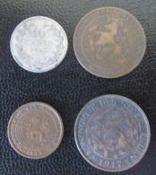 Pays-Bas / Nederland - 4 Monnaies : 10 Cent 1893, 1 Cent 1901, 1/2 Cent 1911, 1 Cent 1917 - Pays-Bas