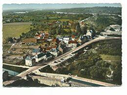 LE GUETIN VUE EN AVION LE PONT CANAL 1835 ET L'ECLUSE   / Année 1950/60 - Cp NEUF - Other Municipalities