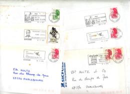 Lot 14 Lettres Flamme Saverne Telegraphe Chappe - Oblitérations Mécaniques (flammes)