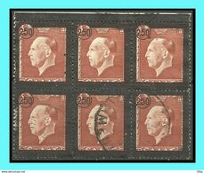 """GREECE-GRECE - HELLAS 1947: 250drx/ 3drx From.set Used - King George's II"""" Funeral Issue - Grèce"""