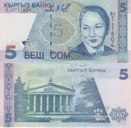 (B0552) KYRGYZSTAN, 1997. 5 Som. P-13. UNC - Kirguistán