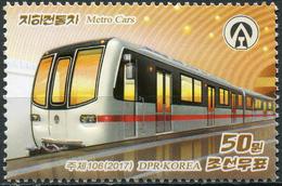 Korea 2017. Cars Of The Pyongyang Metro (MNH OG) Stamp - Korea (Nord-)