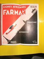 AVIATION CIVILE :  Lignes Farman Paris Sarrebruck Francfort Berlin 1929 - Europa