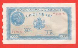 Romania 5000 Lei 1943 Cinci Mii Lei - Romania