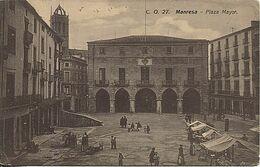 X116720 CATALUNYA BARCELONA PROVINCIA BAGES MANRESA PLAZA MAYOR CON MERCADO - Barcelona