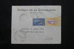 GUADELOUPE - Enveloppe Commerciale De Pointe à Pitre Pour La France En 1939 Avec Cachet De Contrôle Postal - L 69789 - Lettres & Documents