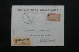 GUADELOUPE - Enveloppe Commerciale En Recommandé De Pointe à Pitre Pour La France En 1940 Avec Contrôle - L 69791 - Lettres & Documents