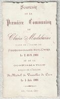 17 - Feuguerolles Sur Orne - Souvenir De La Première Communion Le 2 Juin 1901 - Images Religieuses