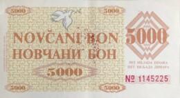 Bosnia 5.000 Dinara, P-9f1 (1992) - VISOKO Issue - Extremely Fine - Bosnia And Herzegovina