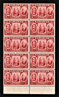 Sarawak - Scott #155 MNH - Block Of 10 - Sarawak (...-1963)