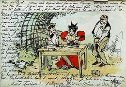 CPA Illustration Albert Guillaume Le Dejeuner Quille Bowling Tonnelle - Guillaume