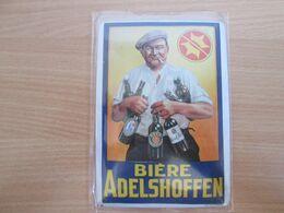 Petite Tole Publicitaire Biere Adelshoffen  . Format Carte Postale - Uithangborden