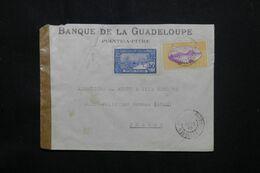 GUADELOUPE - Enveloppe De Pointe à Pitre Pour La France En 1939 Avec Contrôle Postal - L 69822 - Lettres & Documents