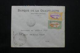 GUADELOUPE - Enveloppe Commerciale De Pointe à Pitre Pour La France En 1939 Avec Cachet De Contrôle - L 69824 - Lettres & Documents