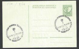 Chess, Yugoslavia Pula, 07.05.1986. Cancel On Card, Open Tournament - Schach