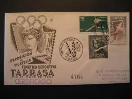 SPAIN Tarrasa Terrassa 1961 Field Hockey Hierba Grass Gazon Cancel Cover - Hockey (sur Gazon)