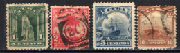 CUBA - 1899 - STATUA DI COLOMBO - PALME - NAVE DI LINEA OCEANICA - COLTIVAZIONE - USATI - Oblitérés
