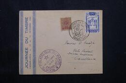 MAROC - Enveloppe De La Journée Du Timbre De Casablanca En 1945 - L 69828 - Briefe U. Dokumente