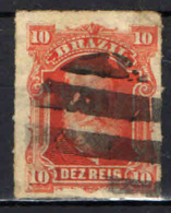 BRASILE - 1878 - EFFIGIE DELL'IMPERATORE DOM PEDRO - 10 R. - USATO - Brasilien