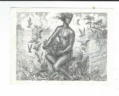 Publicité Pour Gravure  Taille Douce De Albert Decaris :la Femme Et La Mer  Biographie De Albert Decaris Neuve TBE 2SCAN - Vieux Papiers