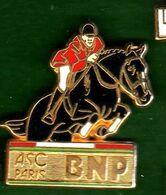 Pin's  BNP ASC Paris Equitation Zamac  Ballard - Pin's & Anstecknadeln