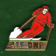 Pin's  BNP ASC Paris  Ski  Zamac  Ballard - Pin's & Anstecknadeln