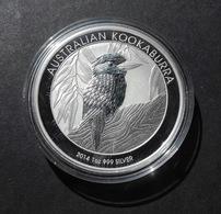 Australia, Kookaburra 1 Oz 2014 Silver 9999 Pure - 1 Oncia Argento Puro Bullion Perth Min - Sets Sin Usar &  Sets De Prueba