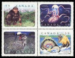 Canada (Scott No.1289-92 - Créatures Légendaires / Legendary Creatures) [**] Block - 1952-.... Regno Di Elizabeth II