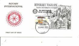 Rotary ( FDC Du Togo De 1985 Avec BF à Voir) - Rotary, Club Leones