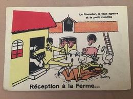 Illustrateur Dukercy, Politique Réception à La Ferme, Souvenir Du Sénat - Illustratori & Fotografie