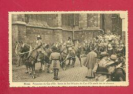 C.P. Mons =  Procession  Du  CAR D'OR :  Sortie De Ste-Waudru Du Car D' Or  Attelé Des Six Chevaux - Mons