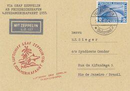 4.Südamerikafahrt 1933 - ZEPPELIN - COVER - FORGERY - FAUX - FAKE - FALSE - FALSCH - FALSO - Germania