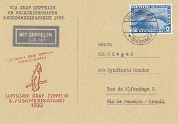 5.Südamerikafahrt 1933 - ZEPPELIN - COVER - FORGERY - FAUX - FAKE - FALSE - FALSCH - FALSO - Germania