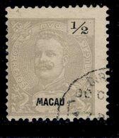 ! ! Macau - 1898 D. Carlos 1/2 A (Perf. 12 3/4) - Af. 78c - Used - Oblitérés