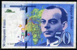 France Billet 50F  St Exupéry  Avec VARIETE Accent Sur Le E De Exupéry,  1993 - Non Classificati