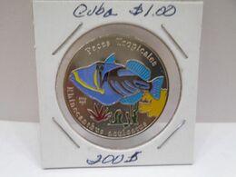 """Cuba, Un Peso 2005, """"PECES TRPICALES,"""" """"RHINECANTHUS SCULECTUS """", UNC, MINT. Gracias Por Visitar Mi Pagina. - Cuba"""