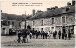 28 CRECY-COUVE - Intérieur De Ferme - - Other Municipalities
