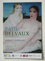 FEMME AU SEIN NU - Tableau Peintre Paul Delvaux - Carte Publicitaire - Paintings