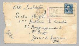 1918 NEW YORK TO ITALY POOD WILL WIN THE WAR DON'T WASTE IT - GENOVA POSTA ESTERA - Brieven En Documenten