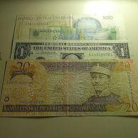 4 Banknotes - Monnaies & Billets